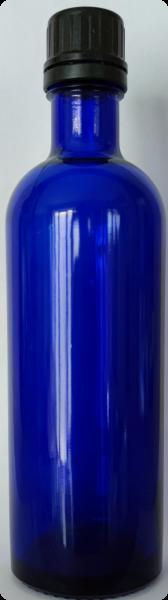 Blauglasflasche 200 ml - schlank mit Schraubverschluss
