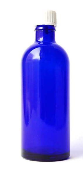 Blauglasflasche - schlank mit Tropfverschluss
