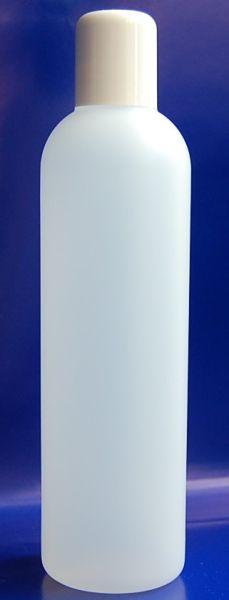 Kosmetikflasche rund mattiert Spritzeinsatz 250 ml